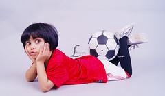 Deema . MashaAllah ///  (Luluwh Al Omari) Tags: baby playing girl beautiful ball happy photography football al amazing fantastic photographer child gulf soccer sony muslim saudi stunning alpha fabulous ksa omari luluwh