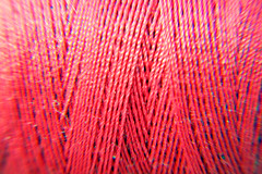 Day 355 - Pink cotton (Ben936) Tags: pink thread craft line cotton repair string wound twine reel chromaticaberration overlapping