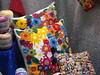 Almofadas de Vitrine! (Verachitta) Tags: flores crochet craft rosas almofada crafting almofadas botões fuxicos almofadinha armarinho