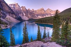 Moraine Lake (Jeremy Duguid) Tags: park travel blue mountain lake snow canada canon rockies day jeremy canadian glacier louise national alberta banff moraine glacial duguid 50d jeremyduguid