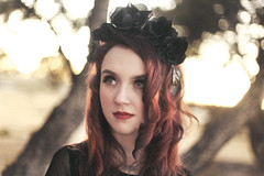 Your Hands Are Cold (Liz Osban Photography) Tags: red flower vintage 50mm head 14 goth crown flm