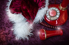 Off the Hook Till Xmas (Imagemakercan - The Lensdancer) Tags: santa christmas red phone magic santaclaus whimsical offthehook ©joygerow