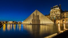 The Louvre - Muse du Louvre, Paris (iesphotography) Tags: thelouvre louvremuseum musedulouvre paris capital canon 5d3 5dmk111 5mk3 european europe glass night reflection city travel tower eiffel touristic tourist eifel view scenic scene france steel sunrise day urban landmark attraction architectural symbol skyline summer light morning tour building historic sightseeing parisian place famous architecture french blue sky tourism romantic beautiful water monument vacation construction fountain trocadero metal landscape cityscape