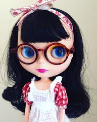 Bea  (vintagecitygem) Tags: maryquantdaisy americangirlglasses vintageskipper neotakara allgoldinone fauxgoldie custom blythedoll