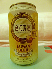 Taipei (Beer), Taiwan (Jan-2016) 25-001 (MistyTree Adventures) Tags: taiwan taipei asia panasoniclumix indoor beer taiwanbeer can beercan honeybeer drink