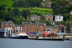 Clyde Clipper & Waverley (Zak355) Tags: rothesay isleofbute bute scotland scottish ferries mvclydeclipper pswaverley paddlesteamer riverclyde shipping ship boat