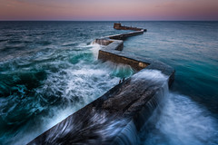 Zigzag Pier (devlin11) Tags: stmonans zigzag pier exposure eastcoast elie fife fishing forth landscape morning neuk nikon waves scotland scenery seaside sunrise seascape