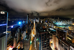 20160901-77-Hong Kong skyline at night pano (Roger T Wong) Tags: 2016 hongkong ptgui rogertwong sel2470z sony2470 sonya7ii sonyalpha7ii sonyfe2470mmf4zaosscarlzeissvariotessart sonyilce7m2 wanchai buildings lights night pano panorama rooftop travel view