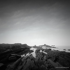 Om Beach (kevinkishore) Tags: rocks ocean beach sea seascape black blackandwhite clouds light outdoor gokarna longexposure ndfilter filter firecrest ombeach om karnataka monsoon india coast coastline