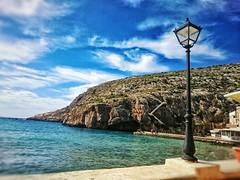 taken in February at xlendi bay, Gozo (Meldarion) Tags: gozo xlendi malta sea sunny lantern sony xperia xperiaz4 xperiaz3 seascape landscape