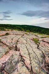 Cadillac Mountain Granite (The Burgys) Tags: landscape acadia nationalpark acadianationalpark maine mountdesertisland mdi sunset color rocks granite trees sony a99 sonya700 zeiss zeiss1680 summer cadillacmountain