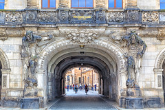 160526_173207_AB_4843 (aud.watson) Tags: europe germany saxony dresden oldcity elberiver river gate gateway entrance cobblestone georgenbau citygate