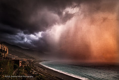 Cloudburst at Sunset (anicoll41) Tags: gioiosamarea sicilia italy cloudburst storm downpour sunset