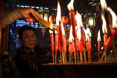 Man Mo Temple (Kevin Dharmawan) Tags: hongkong china celebration lunarnewyear chinesenewyear manmotemple temple manmo sheungwan incense burning fire flame praying prayer buddhist
