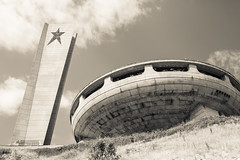 BUZLUDZHA-32 (RAFFI YOUREDJIAN PHOTOGRAPHY) Tags: buzludzha bulgaria spaceship soviet architecture ruin graffiti communist derelict abandoned relic distasteful building monument