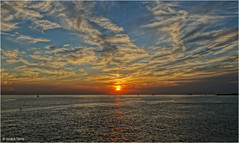 Sunset #1 (Hindrik S) Tags: sunset zonsondergang sinneûndergong sonnenuntergang evening jûn abend avond sea see noardsee northsea noordzee zeeland vlissingen nordsee sun sinne sonne zon read red rood rot clouds cloud wolken westerschelde schelde 2016 sonyphotographing sony sonyalpha tamronaf16300mmf3563dillvcpzdmacrob016 tamron tamron16300 16300 hdr bestshotoftheday amount