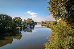 Sunday morning at 9:00 am (KPPG) Tags: outdoor heiter himmel wasser landschaft fulda kassel langzeitbelichtung spiegelung samsungnx nx3000
