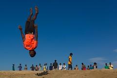 At Marina beach (Akilan T) Tags: sigma35mmart sigmaart sigma canon5dmk3 canon akilanphotography akilan acrobatics acrobat acrobatic flying fly diving dive jumping jump india tamilnadu chennai beach marinabeach marina