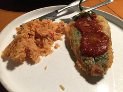 Chile Relleno (jjldickinson) Tags: appleiphone6plus longbeach wrigley cooking food chilerellenopepperanaheim pepperchilechile pepperrice