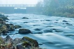 (tkback84) Tags: mist stones stone water current dam fall nikon3672mmf35seriese motion autumn lule aln norrbotten rapids