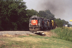 Southern Pacific B30-7 #7784 at Edmonson AR on 6-22-97 (LE_Irvin) Tags: b307 edmonsonar southernpacific