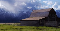 moran barn1 Misty Mountains (Jay Arnold Creations) Tags: jackson hole moran barn mountain nature wyoming