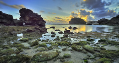 Drini Beach in normal sunset (SadAgus) Tags: haidafilter manfroto nikond800 longexposure seascape breathtakinglandscape indonesia yogyakarta pantai drini