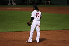 Hanley patrols at first (ConfessionalPoet) Tags: redsox baseball hanleyramirez firstbaseman 1b firstbase infielder
