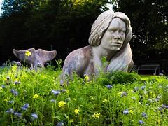 mermaid in the meadow (claudia.kiel) Tags: deutschland germany eckernfrde eckernfoerde kurpark skulptur sculpture martinwolke meerjungfrau mermaid