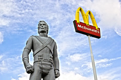 McJackson - Michael Donalds (Wookiee!) Tags: michael jackson mcdonalds best tribute statue sky clouds blue fast food king pop hdr canon d550 35mm lens snack burger moonwalk industry money commercial succes noordbrabant the netherlands just eat it wwwgevoeligeplatennl