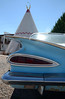 Bat Wing Impala at Wigwam Motel (Justin Rushde) Tags: impala chevrolet 1959