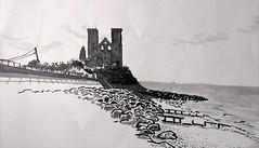 Reculver, Kent (nathan brenville) Tags: locationdrawing kent beach reculver brushpen promarker