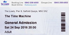 The Time Machine @ The Lowry, Salford 24/9/2016 (stillunusual) Tags: thetimemachine hgwells robertlloydparry rmlloydparry nunkie nunkietheatrecompany salford salfordquays manchester greatermanchester thelowry lowry pier8 theatre ticket mcr england uk 2016