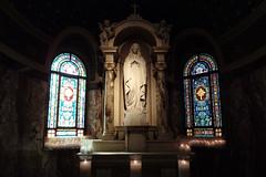 2016 NE Vacation38-Our Lady of Victory Basilica-Praying Statue-Lackawanna, NY (Phaota2) Tags: basilica lackawanna new york ny church praying female statue stained glass window windows candle candles