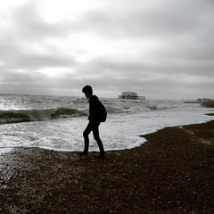Photo of The boy on Brighton beach this afternoon