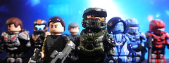 LEGO Halo 4 - Set #1 Complete (MGF Customs/Reviews) Tags: lego infinity chief 4 halo palmer pelican master warrior requiem commander the cortana lasky unsc didact brickarms brickwarriors prometheans