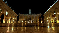 Piazza del Campidoglio (costinul_ala) Tags: italy rome roma fall museum night nikon europa europe italia eu sigma musei photowalk museo piazza 2012 museicapitolini capitolini sigma1020 costin nikond80 bociu costinbociu