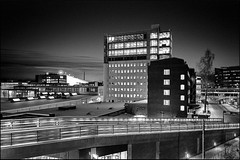 Stockholm Sickla kpkvarter (Damien Vignol) Tags: leica building architecture night photography long exposure kodak stockholm trix 400 28 asph m7 sickla elmarit tetenal ultrafin kpkvarter