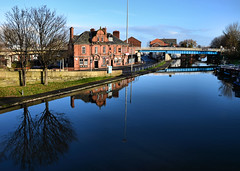 The Waterloo (Whitto27) Tags: two sky cloud water reflections canal tv pov waterloo crisps packet pints lager runcorn waterloohotel archerhotel