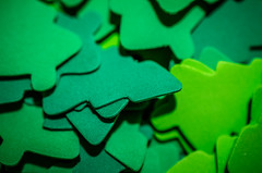 Foam Christmas trees (m01229) Tags: trees macro green glitter foam d7000 nikon40mm