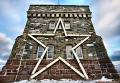 A Star in the East (Karen_Chappell) Tags: christmas xmas winter holiday newfoundland star december stjohns wideangle noel signalhill nfld cabottower