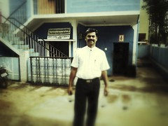 Dr. Madhu outside his clinic