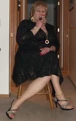 100_0048 (didi_lynn) Tags: sexy highheels sandals cigarette smoke jewelry crossdressing hose smoking tgirl blond blonde hosiery cleavage stiletto pantyhose crossdresser crossdress gurl platforms tg stilettos sexylegs stilettoes nylons classy rednails longnails anklebracelet vs120
