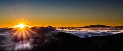 Haleakal Sunrise (1yen) Tags: usa travelling sunrise volcano hawaii islands nationalpark unitedstates olympus maui omd kula haleakal m43 em5 usnp unitedstatesnationalpark haleakalnationalpark zuiko1260mm microfourthirds olympusomdem5