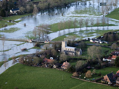 Church of All Saints in Mendham (John D F) Tags: suffolk flooding december flood aerial valley 2012 waveney