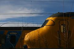 Yellow Train... No yellow submarine found yet (Gwenaël Piaser) Tags: maastricht hollande holland paysbas december 2012 unlimitedphotos gwenaelpiaser canon eos 400d canoneos eos400d canoneos400d 35mm 35mmf14 canonef35mmf14lusm ef35mmf14lusm 35l station railways train yellow gare jaune nederland netherlands city street rue ville canonxti400d canonrebelxti canonkissdigitalx canondigitalrebelxti digitalrebelxti rebelxti kissx kissdigitalx rebel xti prime