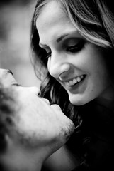 Jessi And Yaniv (cam in colorado) Tags: people bw hair nikon colorado availablelight portait brides portaits lightroom 50mm18 d80 lr2 twittographers