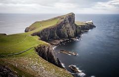 (Attila Pasek) Tags: sea cliff rock landscape isleofskye longexposuretime