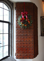 Leeds Castle 8694 (Tony Withers photography) Tags: christmas uk castle lady kent leeds olive historic wreath shutters 2012 baillie