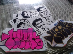 First pack of the new year. I predict its going to be a good one for stickers. Thanks Neek! (V0ID_UN0) Tags: street blue art austin graffiti dallas stencil sticker paint texas paste wheat vinyl houston spray pack collab prints slap usps void trade thermal tops bombing neek